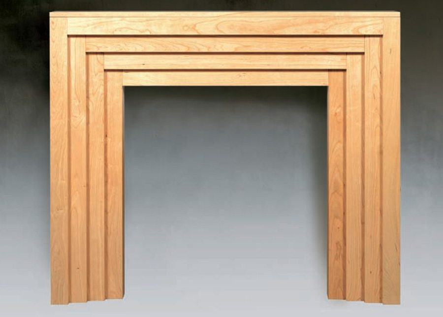 the art deco traditional wood fireplace surround