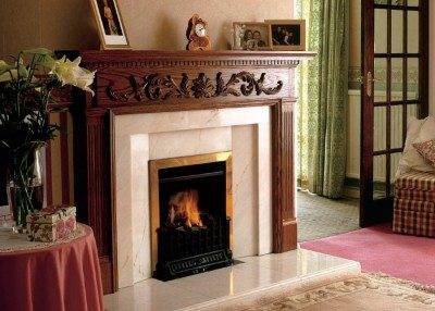 Traditional Wood Fireplace Surrounds