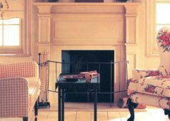 Contemporary Wood Fireplace Surrounds