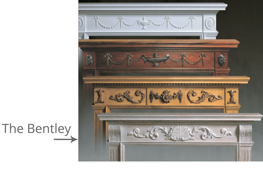 The Bentley With Corbels Only Traditional Wood Fireplace